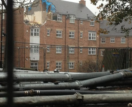 Demolition of Newburn flats