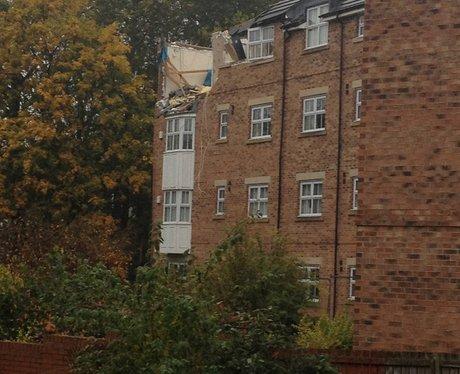Demolition of Newburn flats