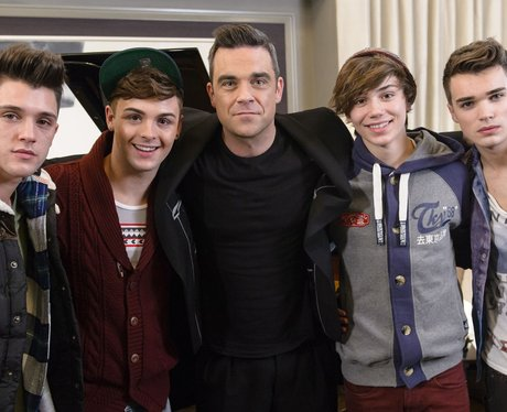 Robbie Williams and Union J from X Factor