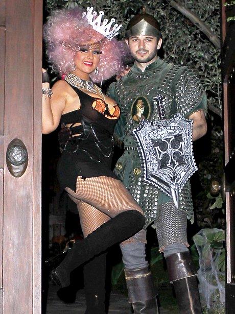 Christina Aguilera in fancy dress.