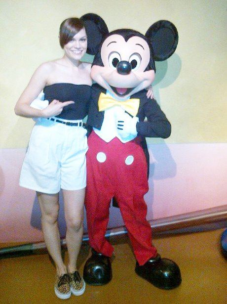 Jessie J with Mickey Mouse