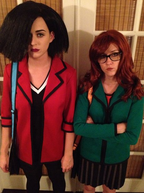 Katy Perry in fancy dress as Daria