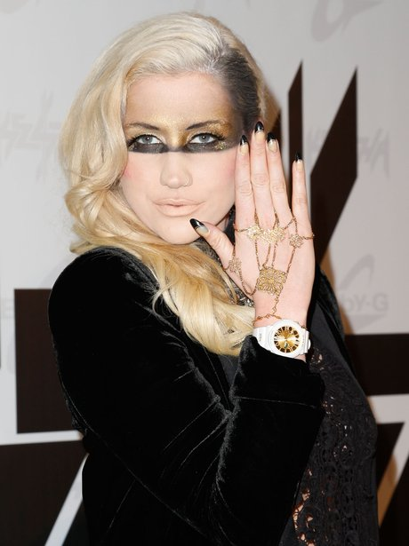 Ke$ha attends a press conference launching her 2nd