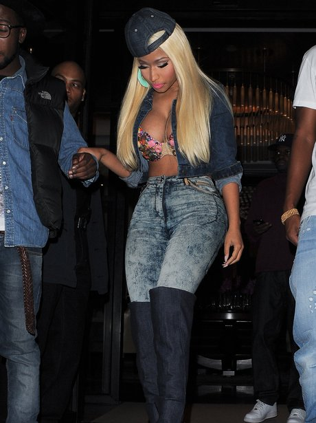 Nicki Minaj in central London.