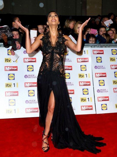Nicole Scherzinger red carpet at the Pride Of Britain awards