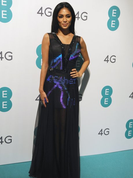 Nicole Scherzinger wears twitter dress