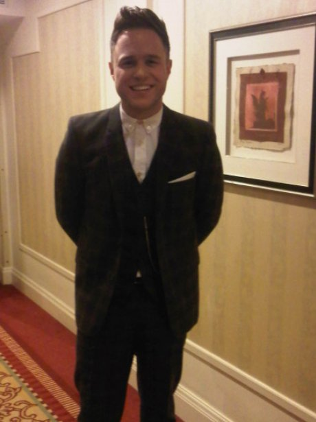 Olly Murs wearing a suit