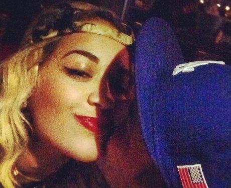 Rita Ora and Rob Kardashian kiss