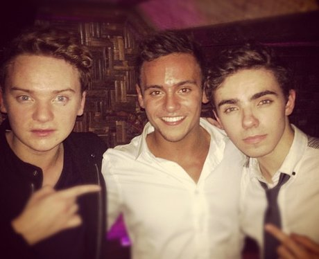 Tom Daley with Conor Maynard and Nathan Sykes