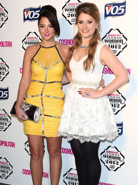 Tulisa and Ella Hernderson at the Cosmo awards.