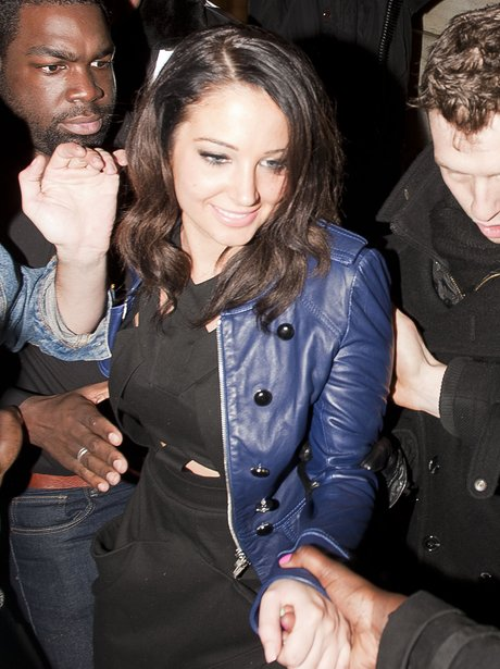 Tulisa out in London.