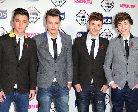 Union J attends The Cosmopolitan Ultimate Woman Of The Year Awards.