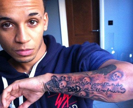 Aston Merrygold's new tattoo.