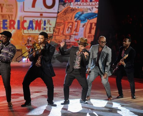 Bruno Mars performs in New York