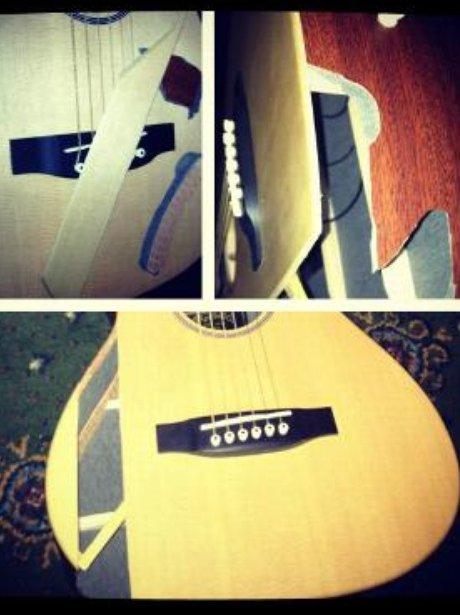 Ed Sheeran's broken guitar