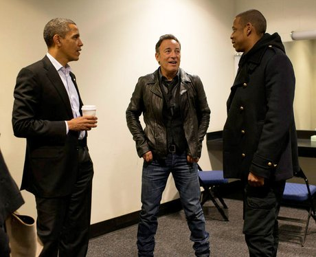 Jay-Z and Barack Obama backstage