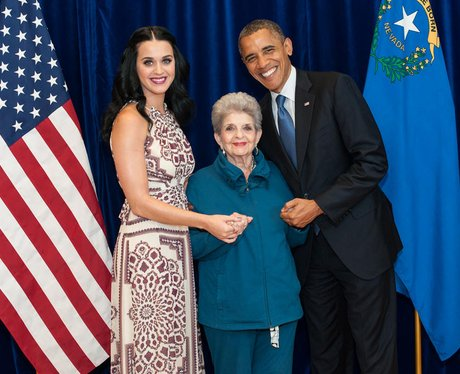 Katy Perry with her grandma and President Barack Obama