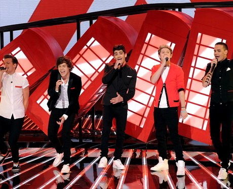 One Direction perform on American X Factor 2012
