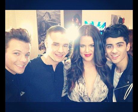 One Direction With Khloe Kardashian