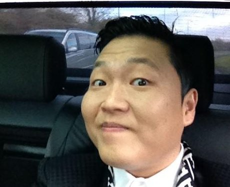 PSY smiling