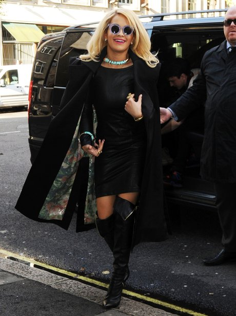 Rita Ora pictured wearing sunglasses in London