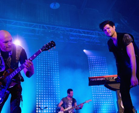 The Script perform live on stage.