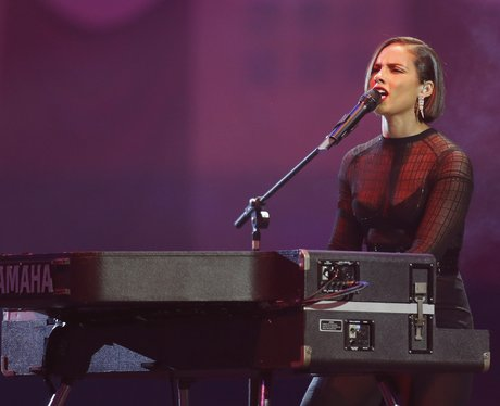 Alicia Keys on stage during the 2012 MTV Europe Music Awards