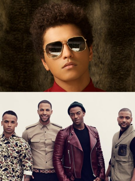 Bruno Mars and JLS
