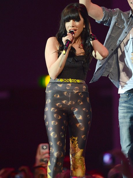 Carly Rae Jepsen performs onstage at the MTV EMAs 2012
