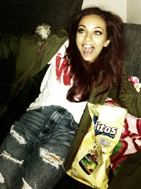 Jade Thirlwell Little Mix eating crisps