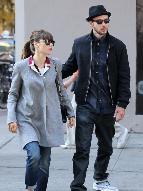 Justin Timbrelake and Jessica Biel together