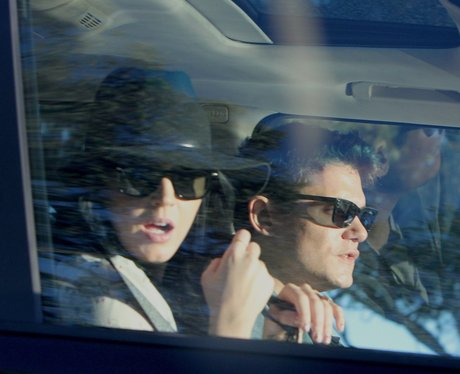 Katy Perry and John Mayor in a car