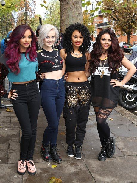 Little Mix pose for a photo in London