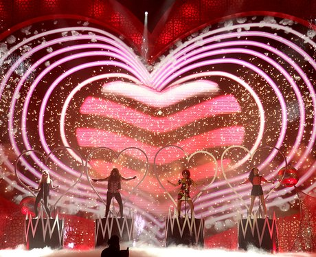 Little Mix perform at the National Television Awards 2012