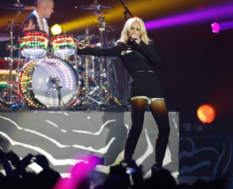 No Doubt on stage during the 2012 MTV Europe Music