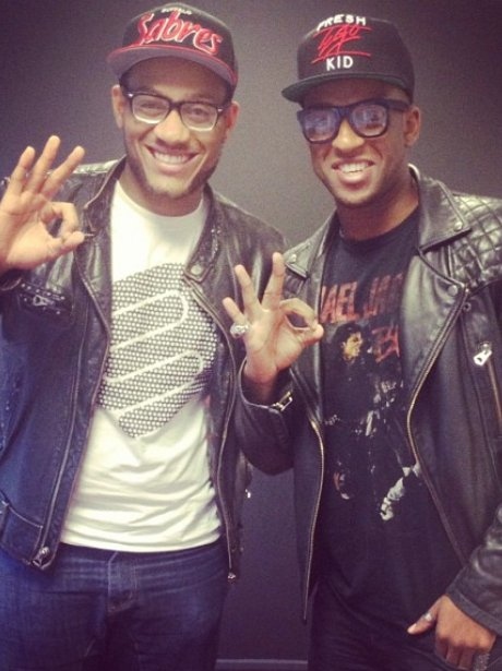 Oritse wih his younger brother