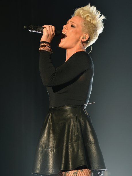 Pink live on stage