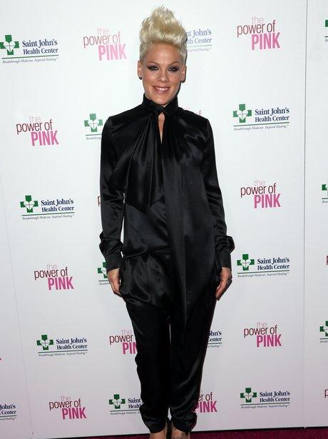 Pink in Black Jumpsuit