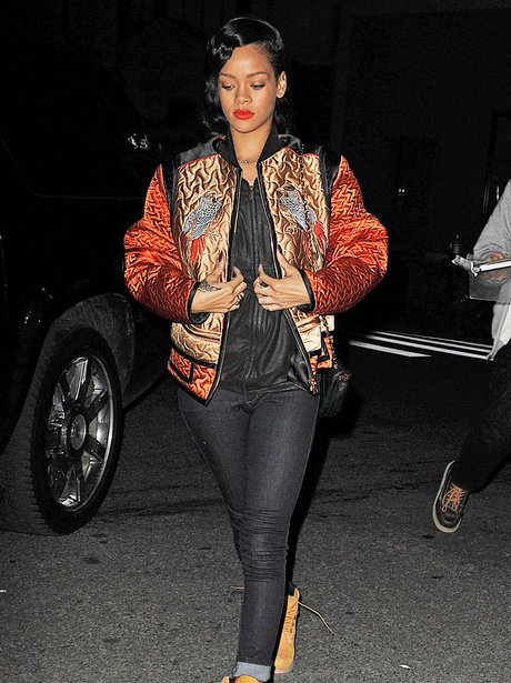 Rihanna is pictured in New York