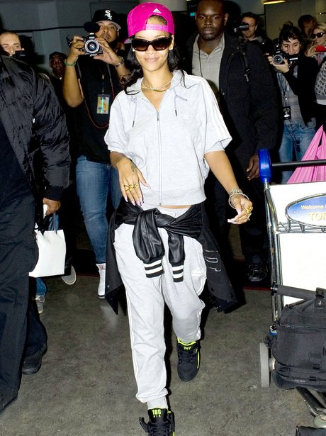 Rihanna arrives at Toronto International Airport,