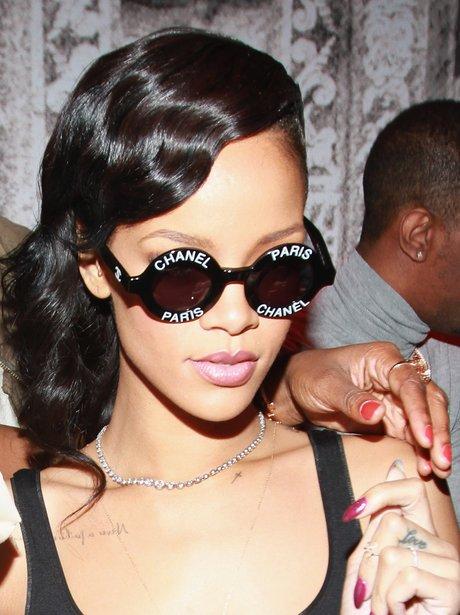 Rihanna wearing Chanel sunglasses