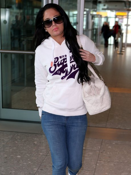Tulisa pictures at the airport