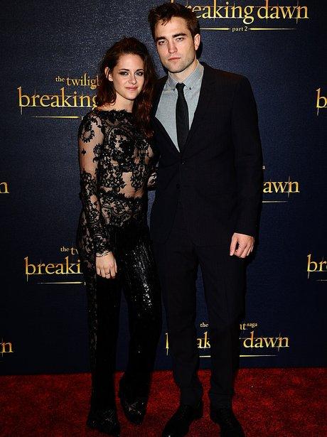 Rob Pattinson and Kristen Stewart at the Breaking Dawn Part Two premiere