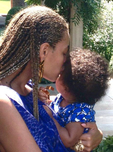 Beyonce and Blu Ivy