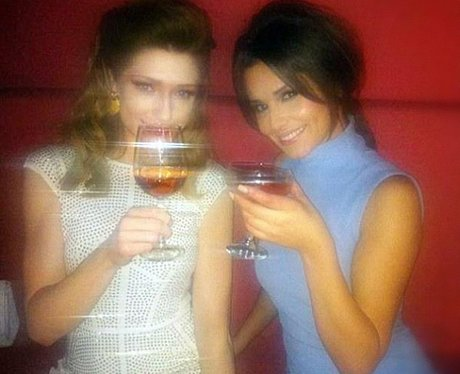 Cheryl and Nicola Roberts on a night out