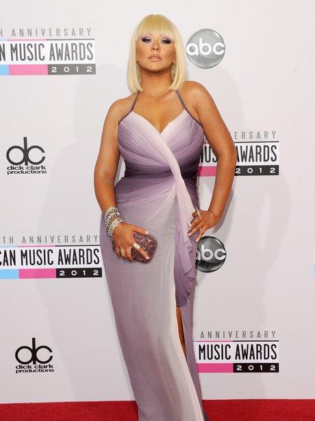 Christina Aguilera at the American Music Awards 2012