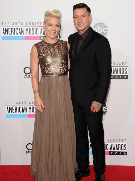 Pink and Carey Hart arrive at the American Music Awards 2012