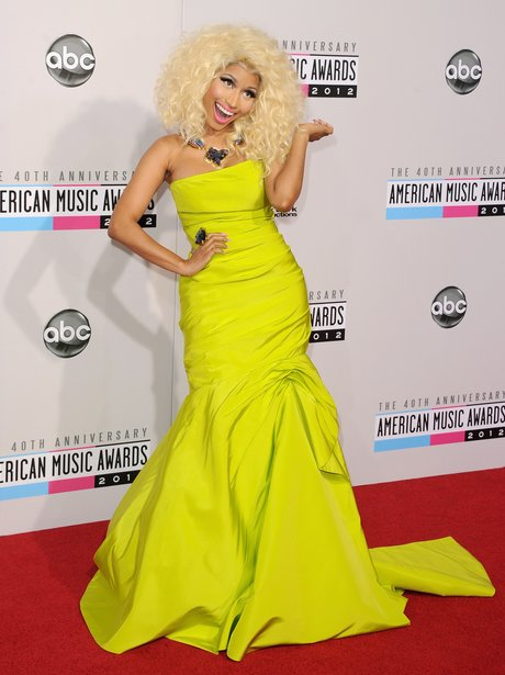 Nicki Minaj arrives at the American Music Awards 2012