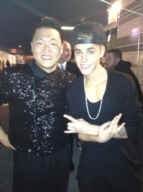 PSy and Justin Bieber