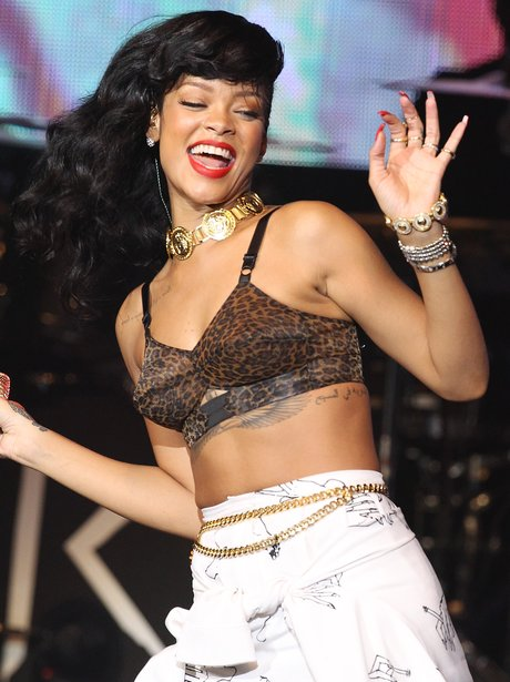 Rihanna performs in London on her '777' tour